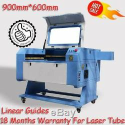 100W CO2 Laser Engrave & Cutting Machine CW-3000 chiller 900mm600mm Hot Sales