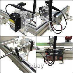 10W USB CNC Laser Engraver Metal Marking Wood Cutting Machine 50x35cm DIY Kit