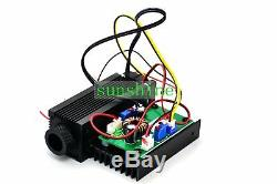 12V TTL High Power 450nm 4W 4000mw Adjustable Blue Laser Dot Module Engraver cut