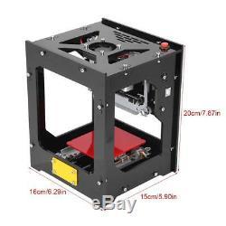 1500MW USB Laser Engraving Cutting Machine DIY Logo Printer CNC Engraver Desktop
