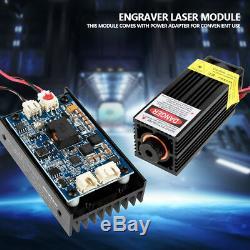 15W Laser Head Engraving Module + TTL 450nm Blu-ray Wood Marking Cutting Tool H