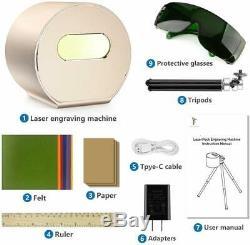 1600mW Portable Desktop Bluetooth Laser Engraving Cutting Machine Engraver APP