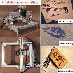 2000MW A5 17x20cm Laser Engraver Cutting Machine Desktop Engraving CNC Printer