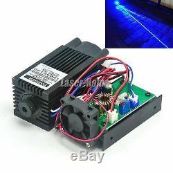 2W 445nm 450nm Blue Focus Dot Laser Diode Module 2000mW 12V To Cutting Engraving
