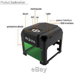 3000MW USB 3D Laser Engraving Cutting Machine Engraver CNC DIY Logo Mark