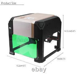 3000MW USB 3D Laser Engraving Cutting Machine Engraver CNC DIY Logo Printer US