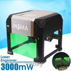 3000mW CNC 3D Laser Engraver Cutting Engraving Machine DIY Mark Printer Cutter