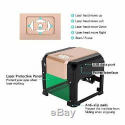 3000mW USB Desktop Laser Engraving Cutting Machine DIY Logo Printer CNC Engraver