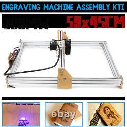 300MW 59x45cm DIY Laser Engraving Cutting Machine Engraver Printer Desktop
