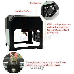 3500MW 3D Laser Engraving Cutting Machine USB Engraver CNC DIY Logo Mark Printer