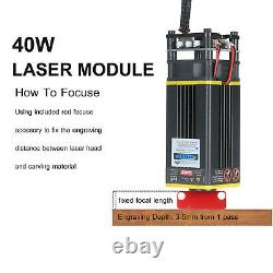 40W CNC Laser Module Head Kit fr Laser Engraving Cutting Machine Engraver Cutter