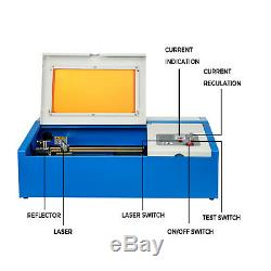 40W CO2 USB Laser Engraving Cutting Machine 128 Engraver Cutter Woodworking