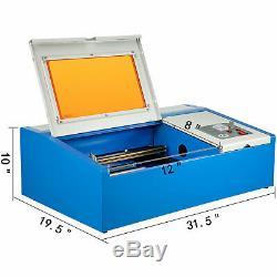 40W High Precision 128 CO2 Laser Cutting Engraving Engraver Machine USB Port