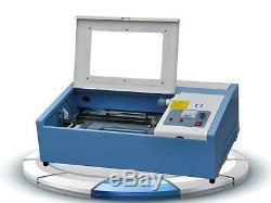 40W High Speed Mini CO2 Laser Engraving Cutting Machine Laser Engraver USB Port