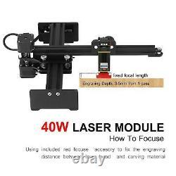 40W Laser Engraving Cutting Machine Laser Engraver Carver Printer CNC Router DIY