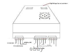 40W Power Supply CO2 Laser Engraving Cutting Machine 110V/220V Switch green port