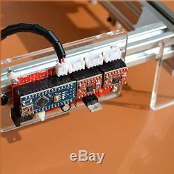 500MW Mini Laser Cutting Engraving Machine Printer Kit Desktop 20x17cm DIY