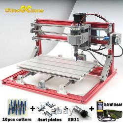 CNC 3018 Engraving Router&5.5W Laser Head Carving Milling Cutting DIY Machine AU