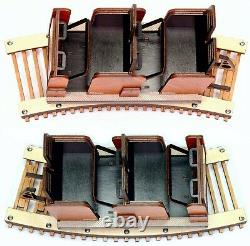 Detailed model of PTC Beast Roller Coaster Train & Track Laser Engraved & Cut