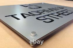 HOUSE Business SIGN PLAQUE Modern Unique CUSTOM Made LASER CUT Architectural