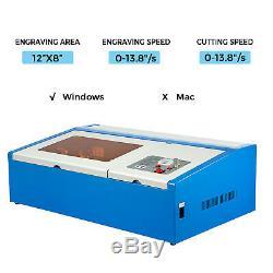 High Precision 40w Co2 Laser Engraving Cutting Machine Engraver Cutter 300200mm