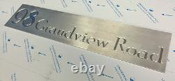 House Sign Laser Cut Stainless Steel Mailbox Architectural Custom Made