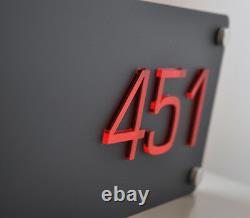 Illuminated LED House Sign Plaque Laser Cut Custom light box
