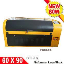 Intbuying 6090 CO2 Laser Engraving Cutting Machine 80W Ruida DSP Controller