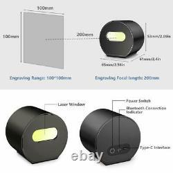 Laser Engraving Cutting Machine Engraver Cutter DIY Black with Adjustable Tripod