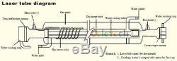 MCWlaser 60W Peak 80W CO2 Laser Tube 125cm Express Insurance Engraving Cutting
