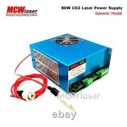 MCWlaser MYJG 80W CO2 Laser Power Supply For Engraver Cutting 110V/220V