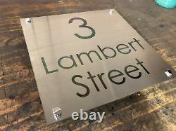 Mailbox / House Sign Plaque Stainless Steel Marine Grade Metal Laser Cut Etched