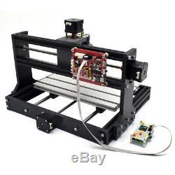 Mini Desktop Laser Engraving Machine DIY Wood Logo Cutter Printer / 5500MW Laser