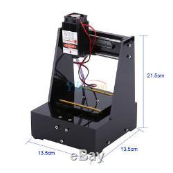 NEW 2000MW USB DIY Micro Laser Engraving Machine Cutting Printer Engraver Cutter