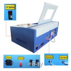 New 50W C02 laser engraving cutting machine engraver cutter machine 300x200mm