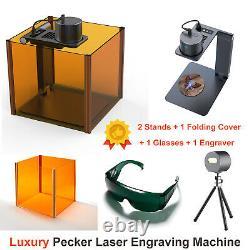 Pecker Mini Laser Engraver Machine DIY Logo Auto focus Engraving Cutting Printer
