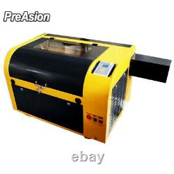 PreAsion CO2 60W Laser Engraving Cutting Machine Linear Guide Engraving 4060 NEW