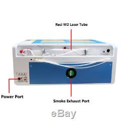 RECI 100W Co2 Laser Engraving Cutting Machine With FDA CW5000 Chiller Ruida 6445