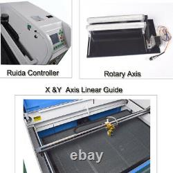 RUIDA Laser Engraving Machine DSP 100W CO2 1060 Laser Cutting Engraver RECI Tube