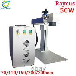 Raycus 50w fiber laser marking machine cut metal gold silver jewelry copper 1mm