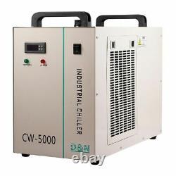 Ruida DSP CO2 100W Laser Cutting Engraver Machine XY Linear Guide CW5000 Chiller