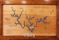 STUNNING Wooden 2D Laser Cut, Engraved LAKE Maps WALL ART HANGING NEW! Custom