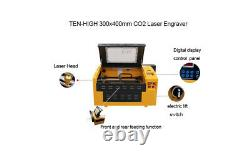 TEN-HIGH 50W Upgraded USB Co2 Laser Engraving Cutting Machine Engraver Cutter