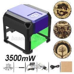 US 3500mW USB 3D Laser Engraving Cutting Machine Engraver CNC DIY Logo Printer
