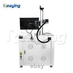 USB 100W Raycus fiber metal deep marking engraving cutting machine 300300mm