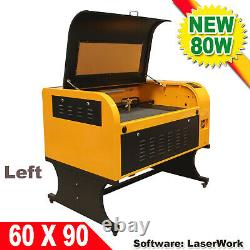 USED 110V 6090 CO2 Laser Engraving Cutting Machine DSP Engraver 80W Laser Tube