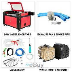 100w Co2 Usb Gravure Au Laser Machine De Découpe De Bois Cutter 900x600mm USA Stock
