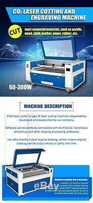 150w Co2 Machine De Découpe Laser 9060 Bois Acrylique Laser Cutter Machine De Gravure