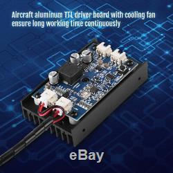 15w Blue Laser Head Gravure Module Ttl 450nm Bois Marquage Outil De Coupe Bricolage