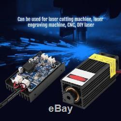 15w Laser Head Gravure Module 450nm Blu-ray Ttl / Pwm Bois Graveuse Outil De Coupe